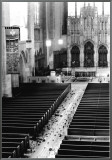 Church Aisle Framed Canvas Print by Scott Mutter