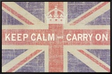 Keep Calm and Carry On (Union Jack) Framed Canvas Print by Ben James