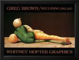 Reclining Salad Plakat af Greg Brown