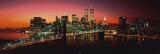New York - Brooklynský most v noci Obrazy