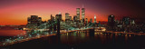 Nueva York - Puente de Brooklyn de noche Láminas