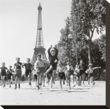 Champs de Mars Gardens Stretched Canvas Print by Robert Doisneau