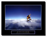 Attitude: Skateboarder Stretched Canvas Print
