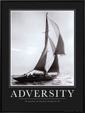 Adversity Framed Canvas Print