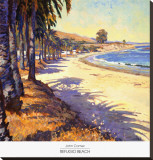 Refugio Beach Stretched Canvas Print by John Comer
