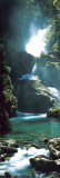 Neuseeland - Wasserfall Kunstdruck
