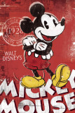 Mickey Mouse, rouge Affiches