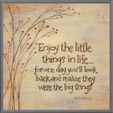 Enjoy The Little Things Framed Canvas Print by Karen Tribett