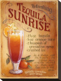 Tequila Sunrise Stretched Canvas Print by Lisa Audit