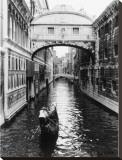 Canal de Venecia Reproducción en lienzo de la lámina por Cyndi Schick