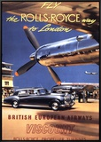 Fly the Rolls Royce way to London, 1953 Framed Canvas Print