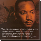 Martin Luther King, Jr.: Measure of a Man Stretched Canvas Print