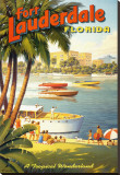Fort Lauderdale, Florida Stretched Canvas Print by Kerne Erickson