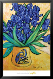 Irises in Blue Vase Láminas por Loughlin