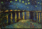 Starry Night Over the Rhone, c.1888 Stretched Canvas Print