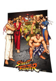 Street Fighter - 3D Poster Posters