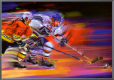 Goals: Hockey Framed Canvas Print by Bill Hall