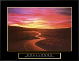 Challenge: Winding Road Framed Canvas Print