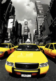 The Yellow Cabs NYC - 3D Poster Póster