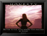 Honesty Print
