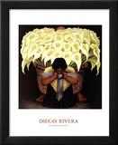 El Vendedor de Alcatraces Prints by Diego Rivera