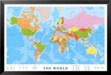 Kart over verden Poster
