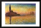 Zonsondergang in Venetië Poster van Claude Monet