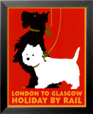 Holiday by Rail Posters by Johanna Kriesel