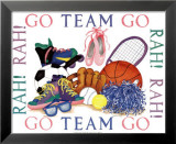 Girls Sports Theme Posters by Marnie Bishop Elmer