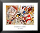 Bustling Aquarelle, vers 1923 Affiches par Wassily Kandinsky