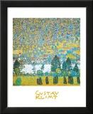 Mountain slope at Unterach Print by Gustav Klimt