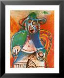Vieil Homme Assis Mougins 1970 Affiches par Pablo Picasso