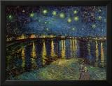 Stjärnklar natt över Rhône, ca 1888 Affischer av Vincent van Gogh