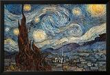 Stjärnklar natt, ca 1889 Poster av Vincent van Gogh