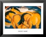 Die kleinen gelben Pferde Kunstdrucke von Franz Marc