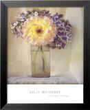 Dahlia with Hydrangeas I Poster von Sally Wetherby