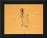 Vrouw met bloemenhoofd, 1937 Print van Salvador Dalí