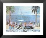 Spaziergang in Nizza Kunstdrucke von Raoul Dufy