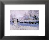 Die Elster Poster von Claude Monet