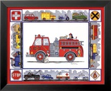 Rescue Trucks Prints by Marnie Bishop Elmer