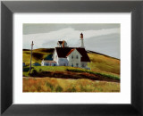 Colline et maisons de Cape Elizabeth au Maine Affiche par Edward Hopper