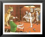 Sich kratzender Spürhund Kunst von Arthur Sarnoff