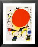 Rote Sonne Kunstdruck von Joan Miró