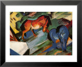 Red and Blue Horses Plakat av Franz Marc