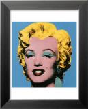 Marylin sur fond bleu, 1964 Art par Andy Warhol