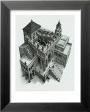 Ascendant et descendant Affiche par M. C. Escher