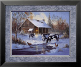 Farm im Winter Poster von M. Caroselli