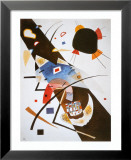 Deux taches noires Affiche par Wassily Kandinsky