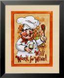 Suche Arbeit gegen Wein Kunstdrucke von Jerianne Van Dijk