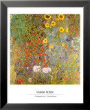 Country Garden with Sunflowers Print by Gustav Klimt